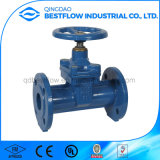 DIN3352 Cast Grey Ductile Iron Flanged Ends Non Rising Stem Resilient Seat Control Water Gate Valve