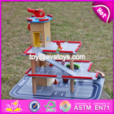 New Products Children Parking Toy Small Wooden Toy Garage W04b047