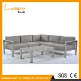 Modern Living Room Corner Anodized Aluminum L Shaped Sectional with Coffee Table Outdoor Garden Sofa Furniture