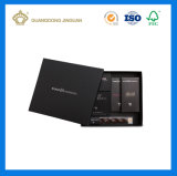 High Luxury Elegant Full Black Matt Feeling Chocolate Packaging Box Set (with inner small paper box)