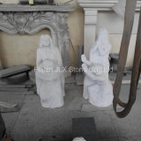 Chinese White Marble Praying Woman Statues for Cemetery