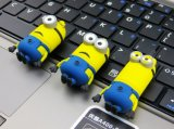 Customized PVC/Silicone Cartoon Minion USB Flash Drive