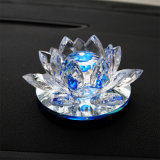 Handicraft Crystal Glass Lotus Craft for Home Decoration