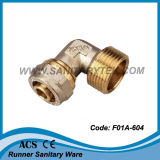 Brass Compression Fitting for Multilayer Pipe - Elbow Male (F01A-604)