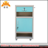 Hospital Mobile Metal Bedside Table