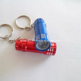 Custom Aluminum LED Mini Flashlight with Keychain for Promotion Gift