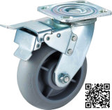 Heavy Duty Grey TPR Brake Caster