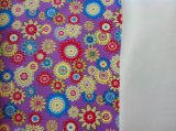 Colorful Flower Printing and Embossed PVC Leather