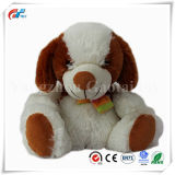 Very Soft Plush Sitting Dog Toy with Scarf