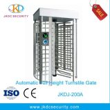 Stainless Steel Entrance Control Gate Full Height Revolving Turnstile