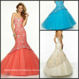 Crystal Formal Evening Gowns Sweetheart Prom Party Dresses (E4032)