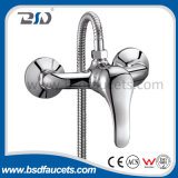 Wall Mount Bathtub Brass H&C Faucet Mixer with Single Handle