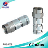Rg59 RG6 RF Compression Connector for Coaxial Cable (pH6-5009)
