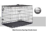 Black Folding Dog Cat Crate Cage