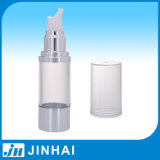 50ml High Quality Silver Airless Bottle with Transparent Cap
