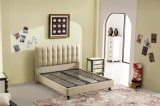 Foshan Home Furniture Wooden Frame King Size Soft Leather Bed