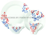 16 PCS Porcelain Dinnerware Special Pattern Dinner Sets Wholesale China Factory Cheap Dishware