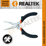 Nickel-Planted Mini Long Nose Pliers with Raised Shoulder