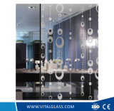 Decorative Acid Etched Art Glass with CE, ISO9001