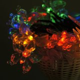 Beautiful Solar Butterfly Pendant Light 4.8m 20LED for Festival Decoration