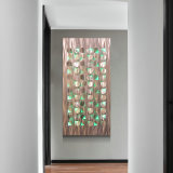 Abstract Laser LED Brush Metal Painting Modern Home Wall Arts Decor Wholesale From China Factory