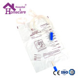 Ce ISO13485 Approved Medical Urine Bag with Plastic Strip