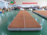Drop Stitch 10X2m Water Floating Mat Inflatable EVA Teak Leisure Platform Jet Ski Dock