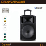 15′′ Portable Party DJ Wireless Karaoke Trolley Bluetooth Active Speaker