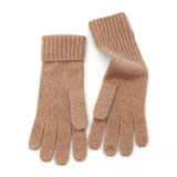 Men Women Solid Colour Plain Knitted Gloves Winter Knitwear