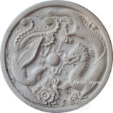 Artificial White Marble Stone Sculpture for Wall Decoration G603
