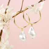 2020 Fashion Silver or Brass Female Baroque Pearl Earring Jewelry