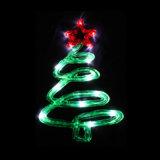 2D Top Star Christmas Tree Pole Acrylic Light for Festival
