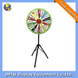 Colorful Tripod Prize Wheel of Fortune Lottery Turntable for Show with Metal Frame
