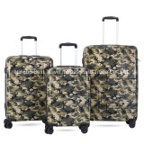 3 PCS Tsa Lock ABS PC Printed Travel Suitcase Cameflage Print Hard Side Trolley Case