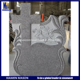 Romanian Carved Cross Polished Stone Granite Monument