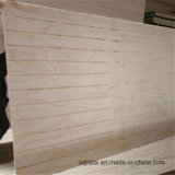 High Quality Slotted Pine Commercial Plywood, Grooved Plywood for Furniture