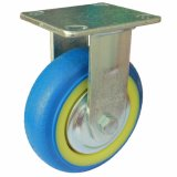 4/5/6/8 Inch Heavy Duty Blue TPR Fixed Caster Wheel