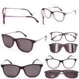 New Italy Design Magnetic Clip on Glasses Polarized Sunglasses Optical Frame High Quality Eyeglasses