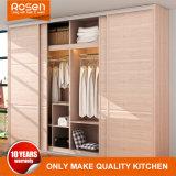 China Wholesale High Quality Wood Veneer Sliding Doors Wardrobe