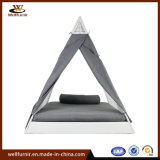 2018 New White Triangle Daybed with Waterproof Curtain (WF050048)
