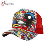 Red Fashion Cartoon Printing Baseball Cap Racing Cap (14007)