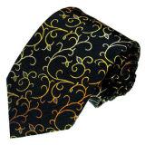 Men's Fashion Gold Line Colour Design Woven Silk Ties