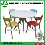 Wooden Round Dining Table with 4PCS Chairs Sets