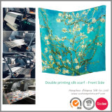 Custom Design Double Print Lady Silk Scarf