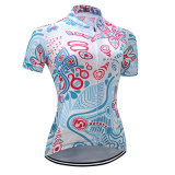 Women's Cycling T Shirt Set Short Sleeve Shorts with 3D Padded MTB Bike Jersey Sport Clothes Bicycle Jacket