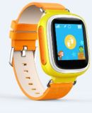 GPS Smart Watch Baby Watch Sos Call Location Device Tracker for Kid Safe Anti-Lost Monitor Q60 Yellow Color