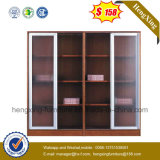 High Quality Glass Doors Wooden Office Bookcase China Cabinet (HX-4FL003)