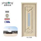 Cheap Price WPC Interior Solid Wood Paint Door Modern Design Yk732b