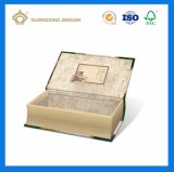 Decorative Book Shaped Empty Paper Box with Custom Design (Magnetic Closing)