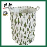 Cotton Fabric Collapsible Laundry Basket Dirty Clothes Hamper